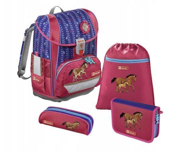 Школьный рюкзак для девочек Hama Step By Step LUCKY HORSE + 2 пенала + сумка для спортивной обуви