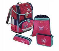 Школьный рюкзак для девочек Hama Step By Step Butterfly + 2 пенала + сумка для спортивной обуви, фото 1