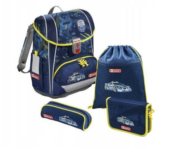 Школьный рюкзак для мальчиков HAMA Step By Step LIGHT II CITY + 2 пенала + сумка для спортивной обуви