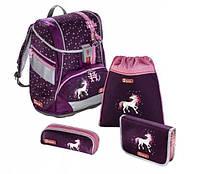 Школьный рюкзак для девочек Hama Step By Step Unicorn + 2 пенала + сумка для спортивной обуви