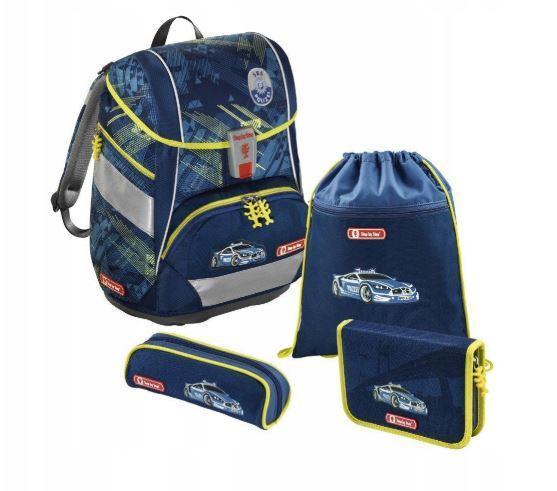 Школьный рюкзак для мальчиков HAMA Step By Step Stadpolizei + 2 пенала + сумка для спортивной обуви