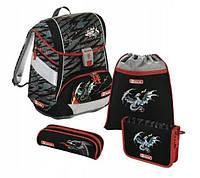 Школьный рюкзак для мальчиков HAMA Step By Step Fire Dragon + 2 пенала + сумка для спортивной обуви, фото 1