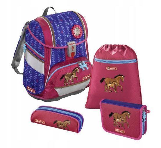 Школьный рюкзак для девочек Hama Step By Step Lucky Horses + 2 пенала + сумка для спортивной обуви