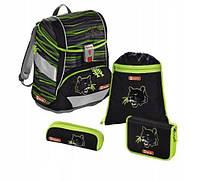 Школьный рюкзак для мальчиков HAMA Step By Step Пантера + 2 пенала + сумка для спортивной обуви