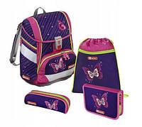 Школьный рюкзак для девочек Hama Step By Step Бабочка + 2 пенала + сумка для спортивной обуви