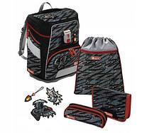 Школьный рюкзак для мальчиков HAMA Step By Step Дракон + 2 пенала + сумка для спортивной обуви