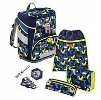 Школьный рюкзак для мальчиков HAMA Step By Step Самолет + 2 пенала + сумка для спортивной обуви