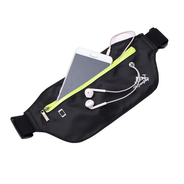 Спортивная сумка на пояс или через плечо (бананка) HW1801, с отверстием для наушников, влагозащищённая