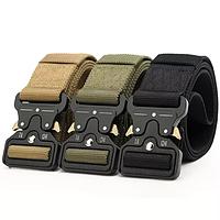 Туристический военные ремни очень прочные три цвета чёрный песок, фото 1