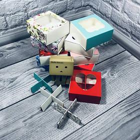 Коробка для пряников, печенья, конфет / перегородки 80х80х35 мм