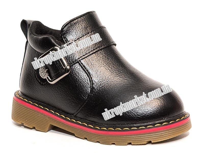 """Ботинки детские A80 black (10 пар р.26-30) """"Леопард"""" LG-1478"""