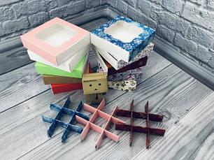 Коробка для пряников, печенья, конфет / перегородки 120х120х30 мм