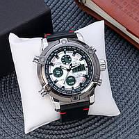 Мужские часы AMST 0322 Silver-Black-Silver Smooth Wristband