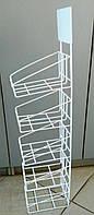 Настінна полиця (стенд) з дроту для товарів в упаковці 830х140 мм