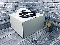 *10 шт* / Коробка с ручкой / 260х260х150 мм / ГОФР-Белая / окн-ручка  / для торт, фото 1