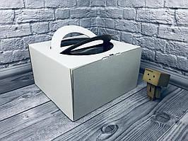 *10 шт* / Коробка с ручкой / 260х260х150 мм / ГОФР-Белая / окн-ручка  / для торт