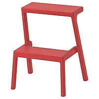 """IKEA """"МЭСТЕРБИ"""" Табурет-лестница, коричнево-красный"""