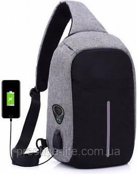 Рюкзак Bobby Однолямочный рюкзак Bobby mini Серо-черный (109113-bobby 2253) SKU_109113-bobby 2253