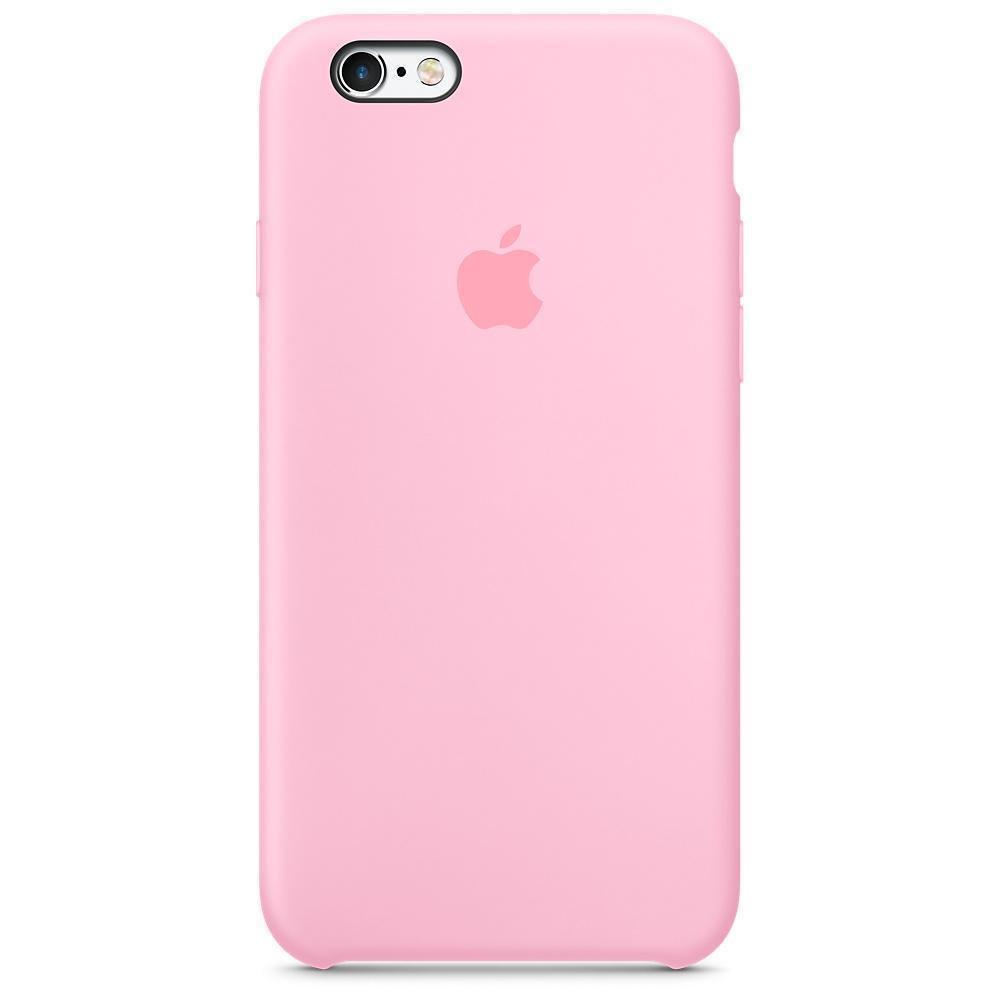 Чехол накладка silicone case для iphone 6s+ - pink