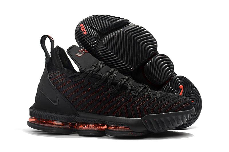 """Кроссовки Nike LeBron XVI 16 XDR """"Черные\Красные"""""""