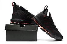 """Кроссовки Nike LeBron XVI 16 XDR """"Черные\Красные"""", фото 2"""