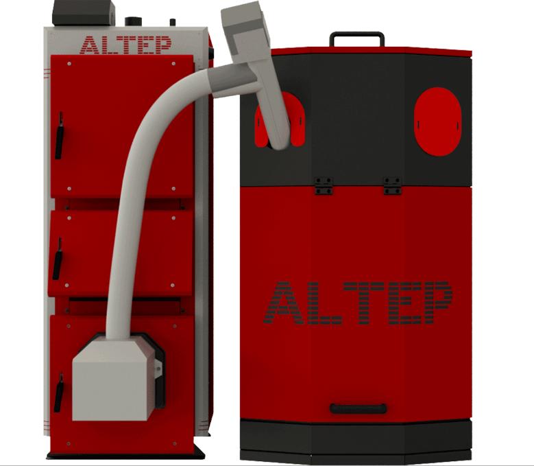 Котел твердотопливный Альтеп Duo UNI Pellet Plus 62 кВт