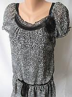 Молодежные шифоновые платья с брошью., фото 1