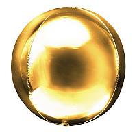 Фольгированный шар 18' Китай Сфера золото, 47 см