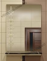 Зеркало zk-25 с контурным рисунком и полкой 70х50 см, фото 1