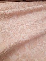 Шерстяная ткань с объемным цветочным узором, фото 1