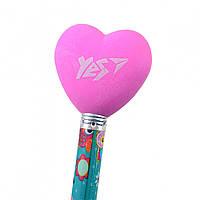 """Ластик-насадка на карандаш YES """"Heart""""   (1 шт.)  560500"""