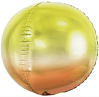 Фольгированный шар 20' Китай Сфера градиент (оранжевый, желтый), 50 см