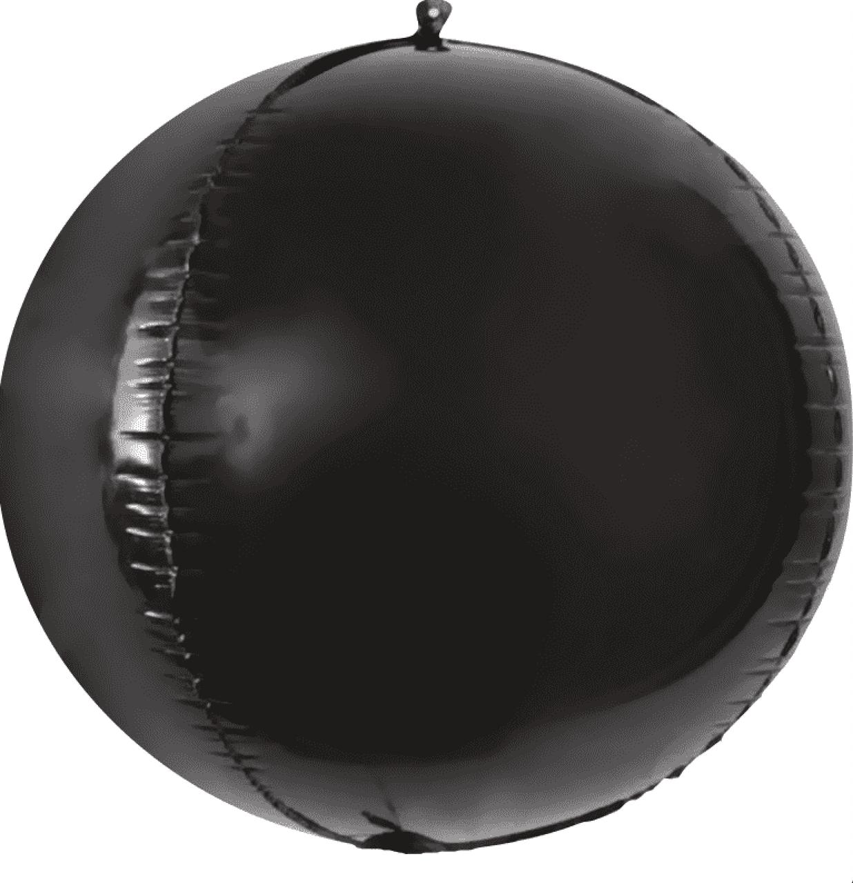 Фольгированный шар 20' Китай Сфера черная, 50 см