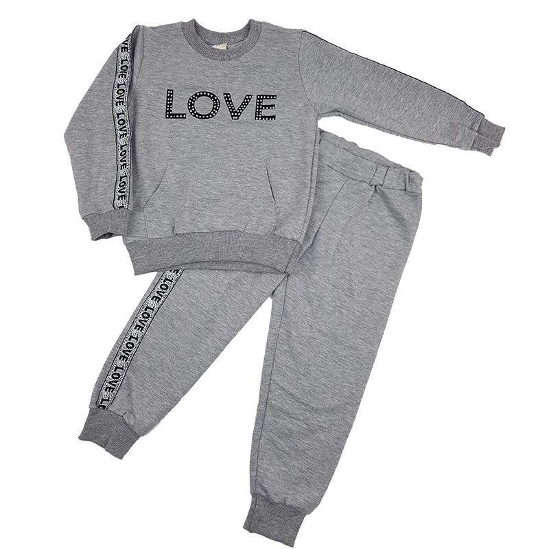 Блуза с лентами и буквами и брюки для девочки | Одежда для детей ... | 800x800