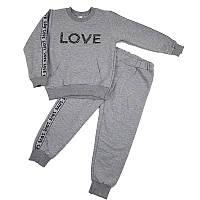 Костюм для девочки 110-128(5-8лет) кофта+штаны, арт.02002