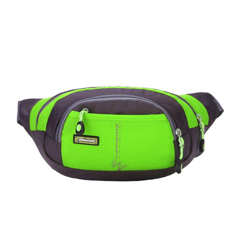 Туристическая сумка на пояс или через плечо (бананка) HW0312, имеет 4 отделения, влагозащищённая