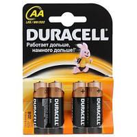 Батарейки Duracell пальчиковые LR6 AA 4 шт