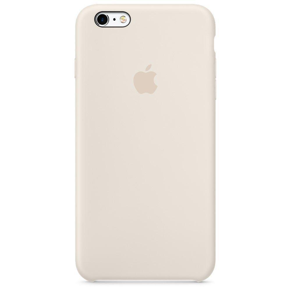 Чехол накладка silicone case для iphone 6s+ - antique white