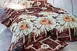 Комплект постельного белья от украинского производителя Polycotton Полуторный T-90959, фото 3