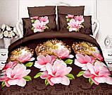 Комплект постельного белья от украинского производителя Polycotton Полуторный T-90959, фото 4
