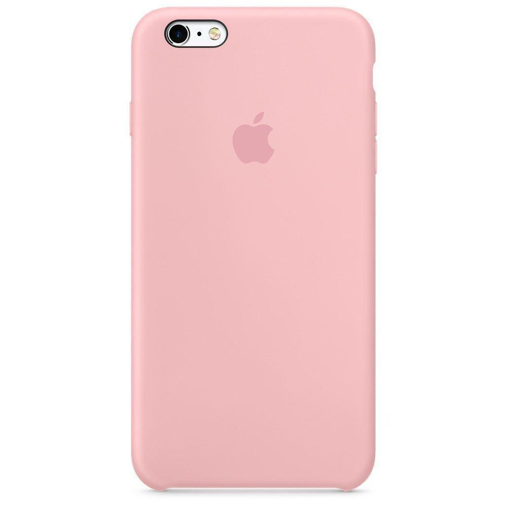 Чехол накладка silicone case для iphone 6s+ - light pink