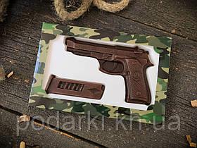 Шоколадный набор Пистолет с обоймой для мужа
