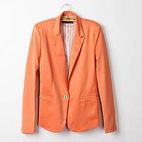 Женский пиджак на одну пуговичку. Оранжевый