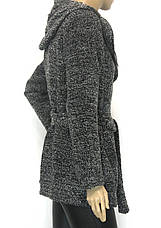 Жіноче пальто кардиган з капюшоном, фото 3