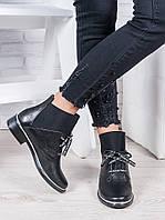 Ботинки кожаные черные Элиза 6948-28, фото 1