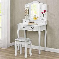 Туалетный столик с 3-ма зеркалами и пуфом, фото 1