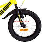 Детский велосипед Formula Jeep 16 дюймов желтый, фото 3