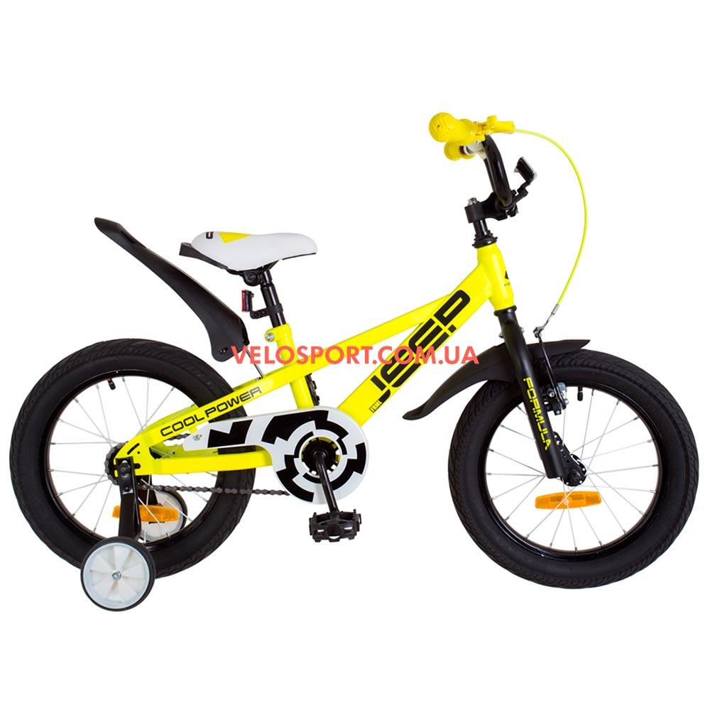 Детский велосипед Formula Jeep 16 дюймов жедтый