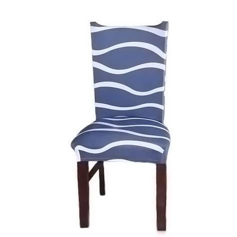 Чехол на стул натяжной Stenson R26291 45х40~65х50 см, фото 2