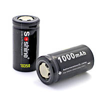 Аккумулятор Soshine 18350 Li-Ion 1000 mAh 3,7V (без платы защиты), фото 1